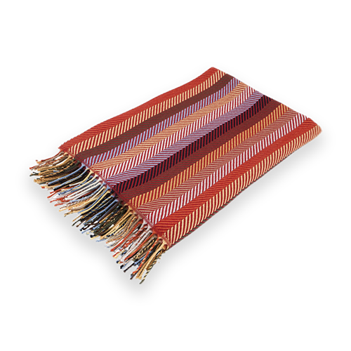 Red Striped Throw