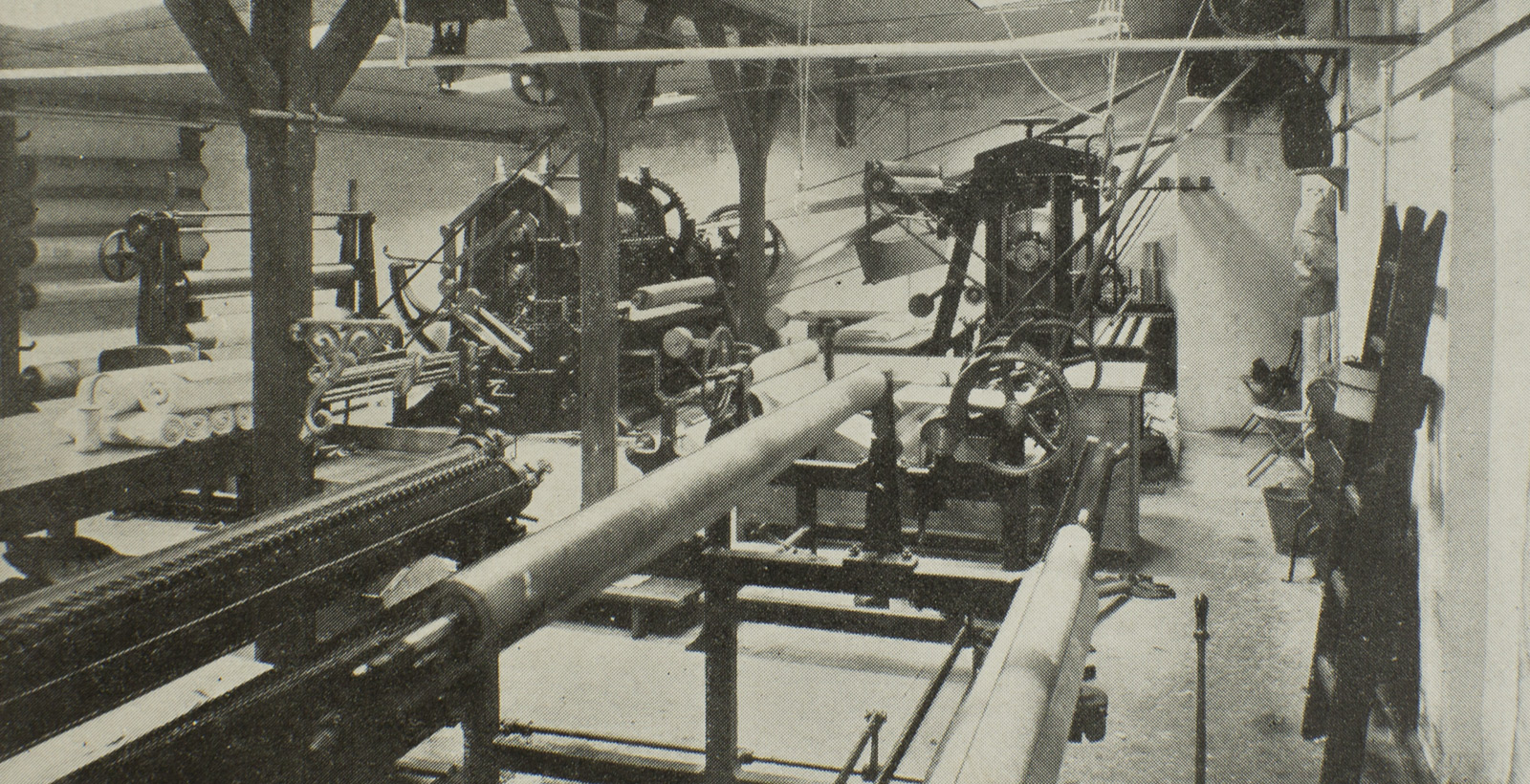 Photo: The old Geismar's weaving milli - Circa 1903